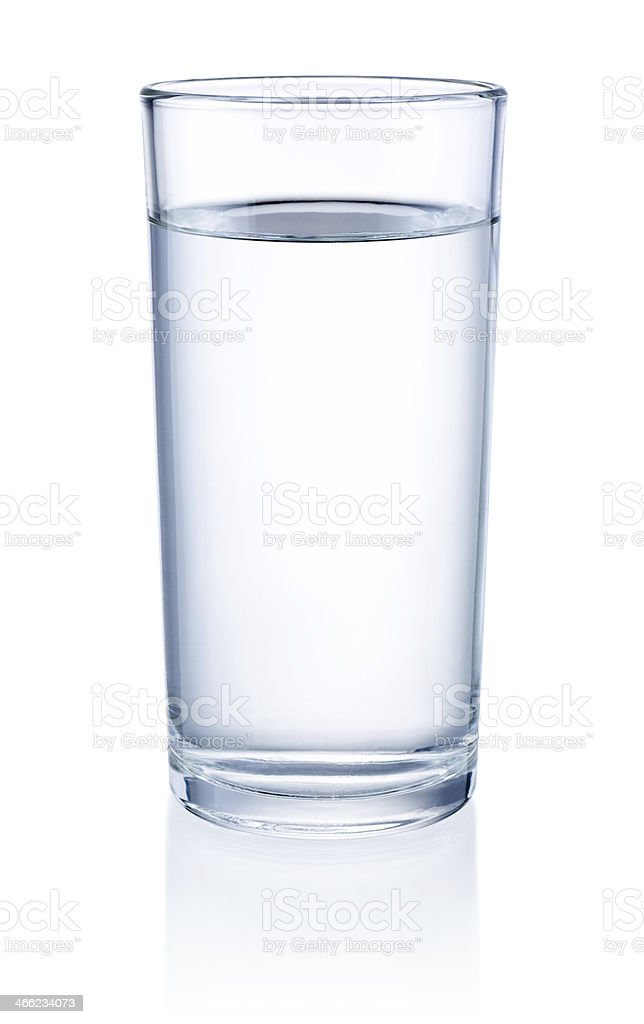 Glass of Water isolated on a white background stock photo