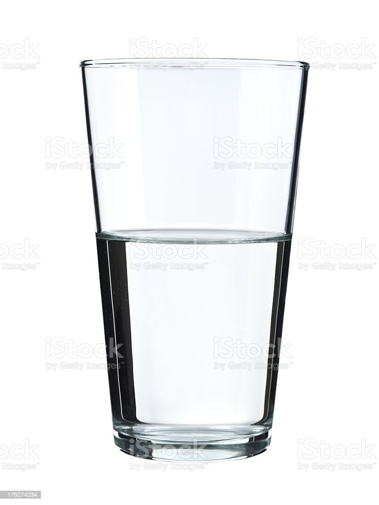 Glass of water isolated on white royalty-free stock photo