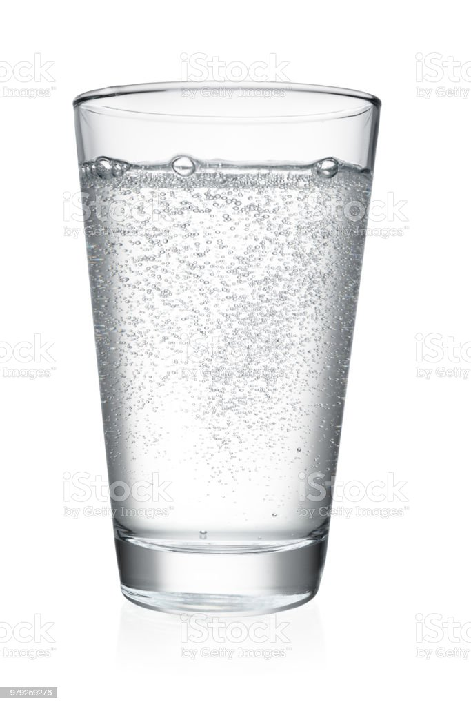 Glass of water isolated royalty-free stock photo