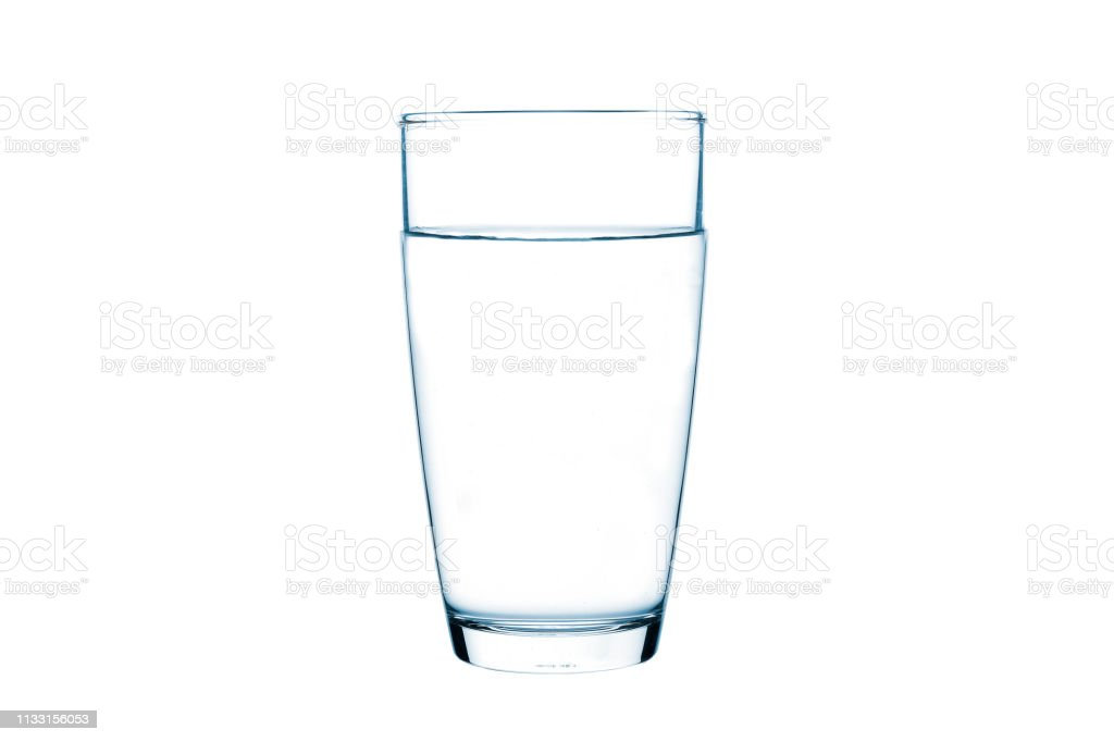 Glass of water on isolate background royalty-free stock photo