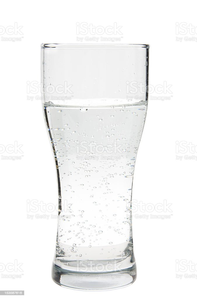 glass of water on white stock photo