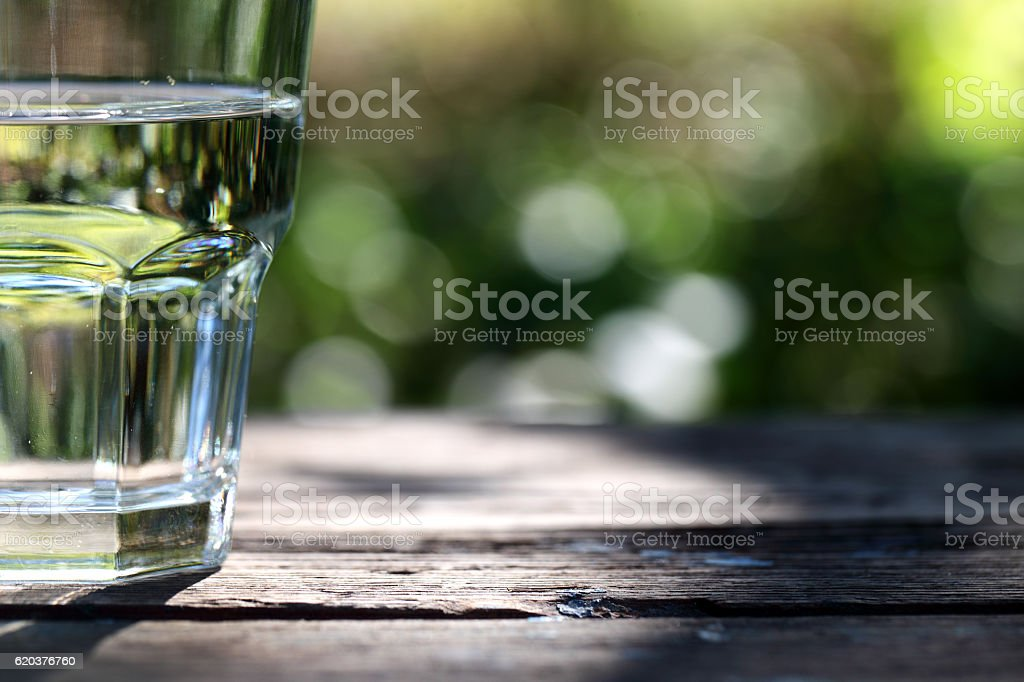 Glass of water stock photo