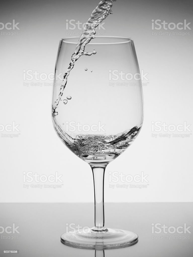 Glass of water royalty-free stock photo