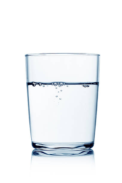glass of water with bubbles - glass stock photos and pictures