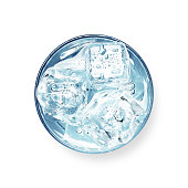 istock Glass of water with ice cubes 1288582586