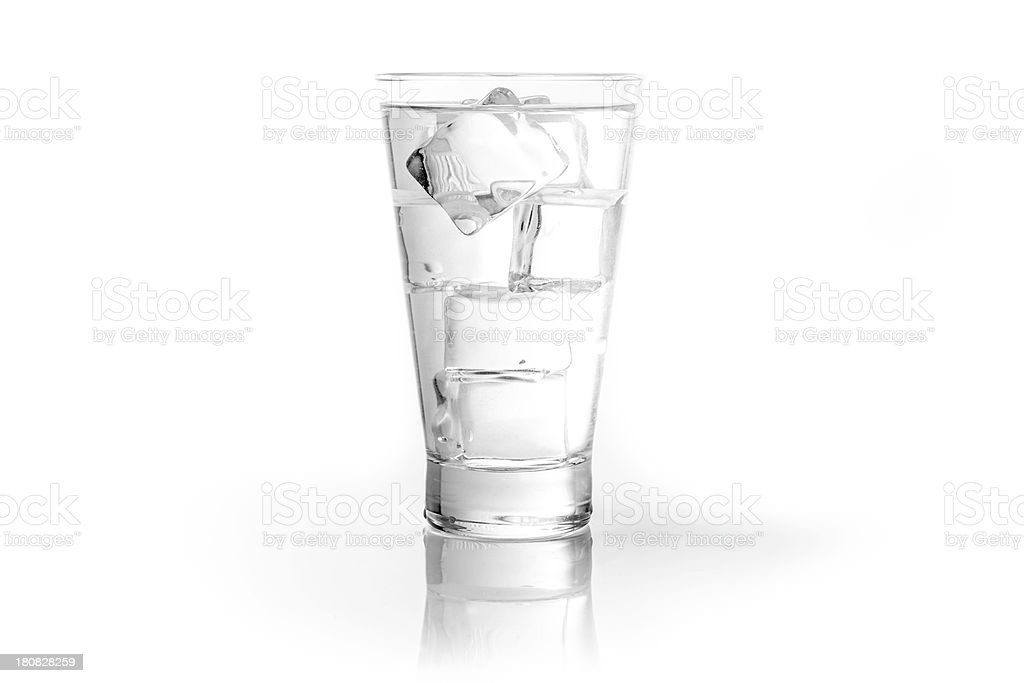 Glass of water with ice cubes royalty-free stock photo