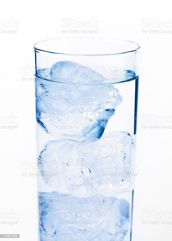 glass of water with ice royalty-free stock photo