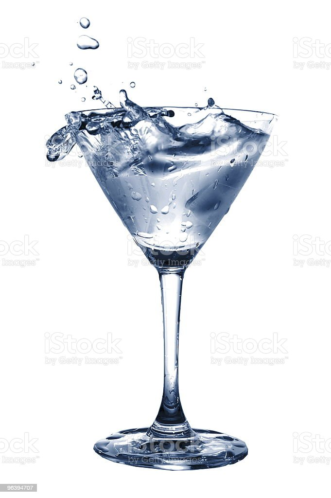 glass of water with splash - Royalty-free Alcohol Stock Photo