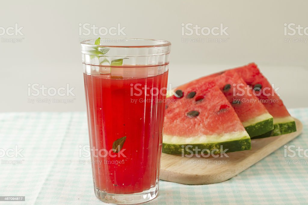 Glass of watermelon juice royalty-free stock photo