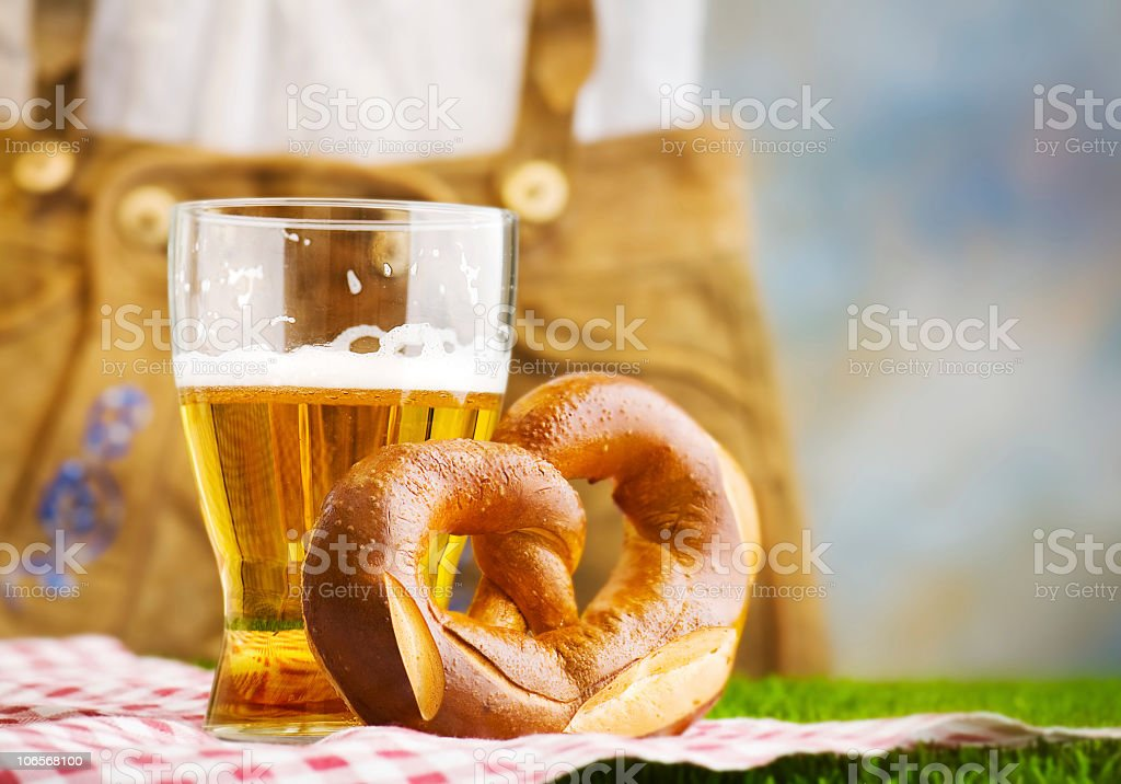 Glass of weiss beer. royalty-free stock photo