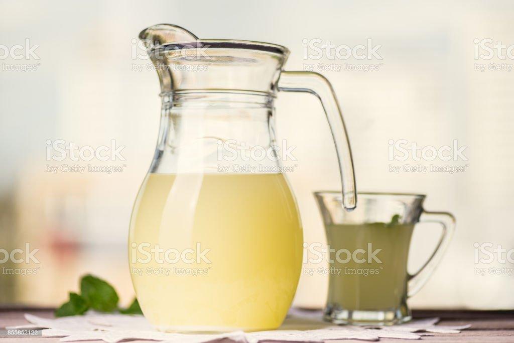 Glass of whey stock photo