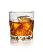 istock Glass of whiskey with ice 1140849064