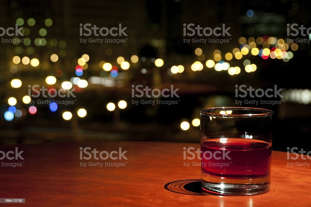 Glass of Whisky or Rum royalty-free stock photo