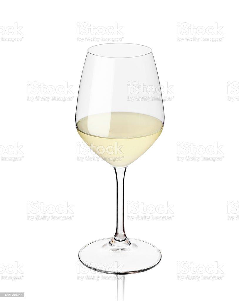 Bicchiere di vino bianco - foto stock