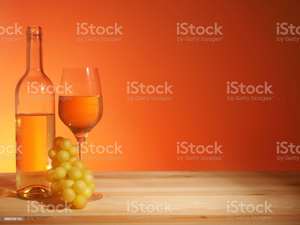 Glass of White Wine foto stock royalty-free