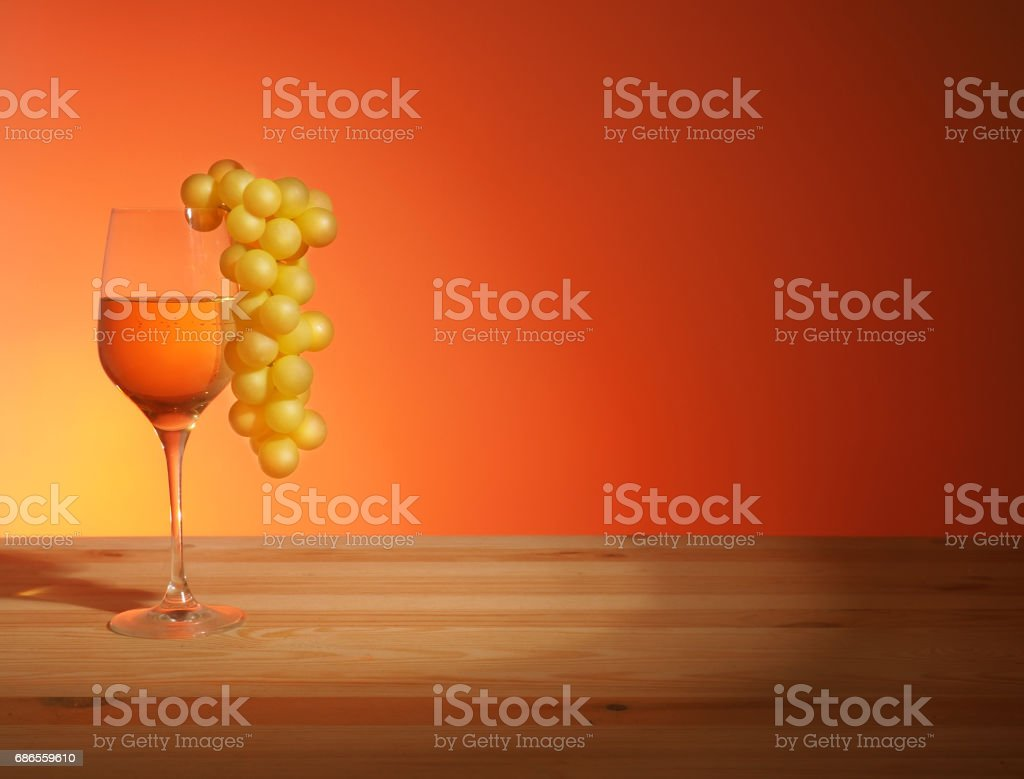 Glass of White Wine zbiór zdjęć royalty-free