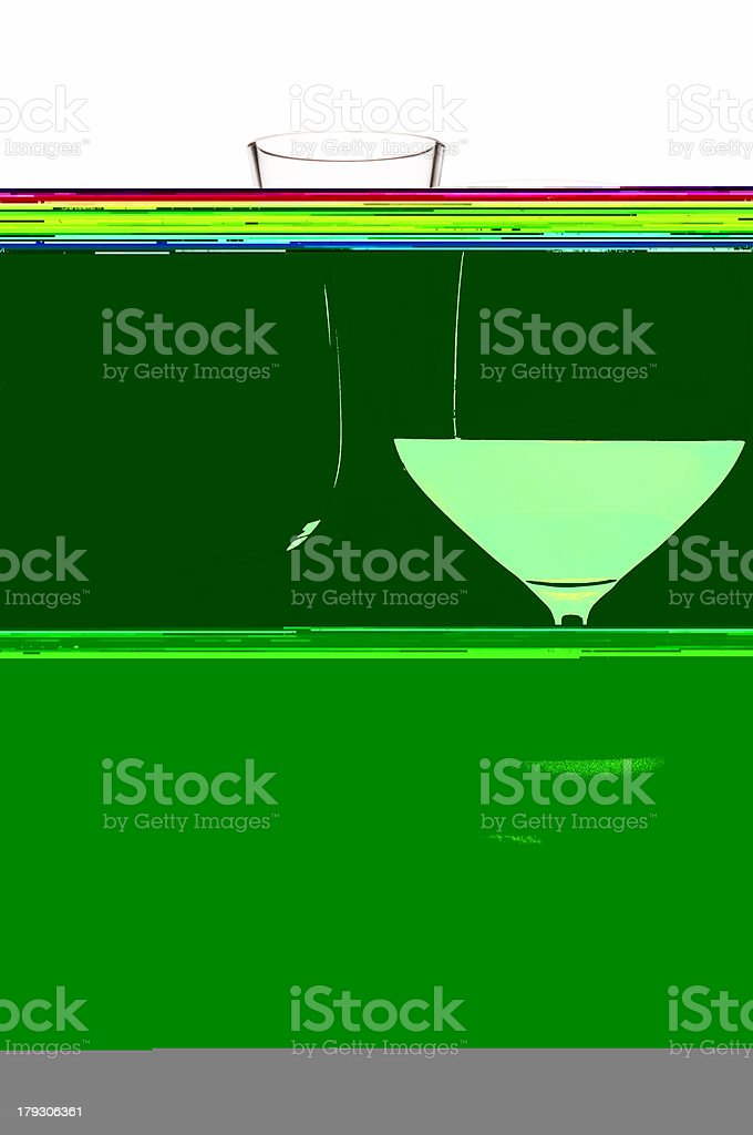 glass of wine and decanter stock photo