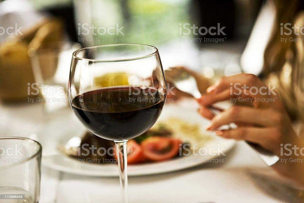 Ein Glas Wein - Lizenzfrei Alkoholisches Getränk Stock-Foto