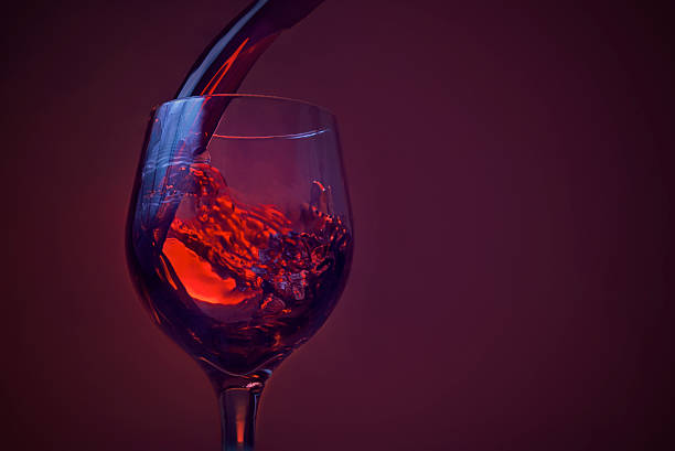 glass of wine stock photo