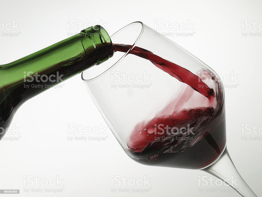 Glass of wine. royalty-free stock photo