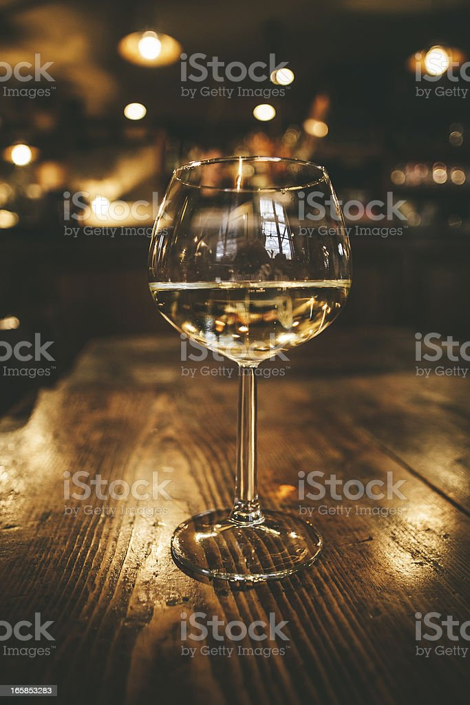 Glass of Wine, Restaurant in Tuscany royalty-free stock photo