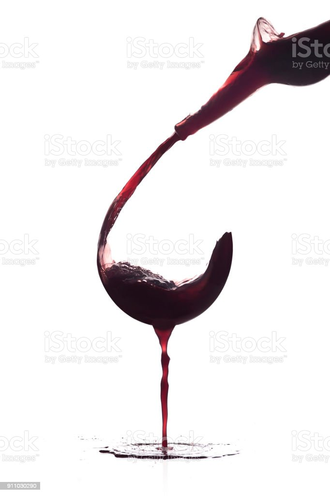 Glass of wine without a glass - foto stock