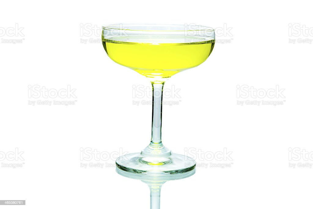 Glass of yellow wine. royalty-free stock photo