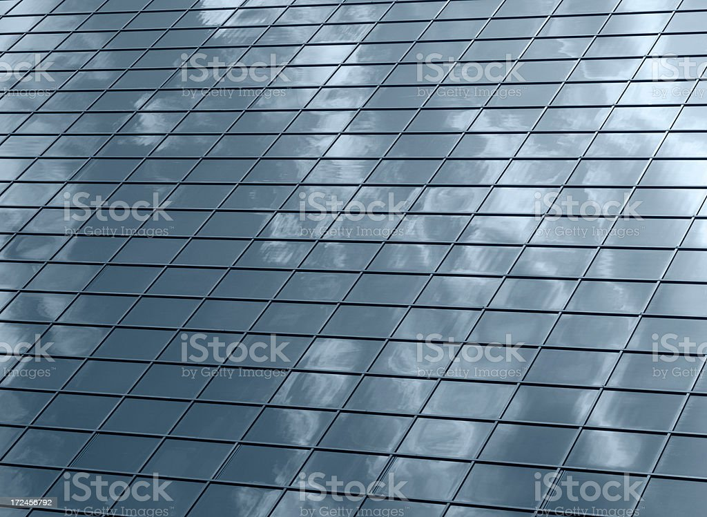 Glass office building surface royalty-free stock photo