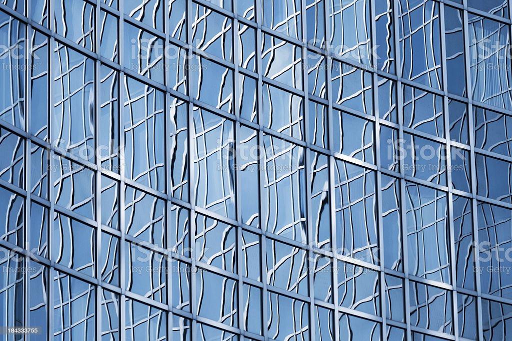 Glas Buro Fassade Architektur Blau Getont Stock Fotografie Und Mehr