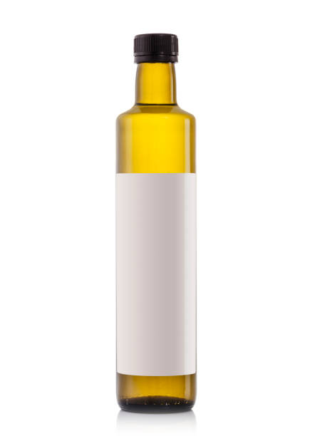 Glass oil bottles with blank label, 500ml