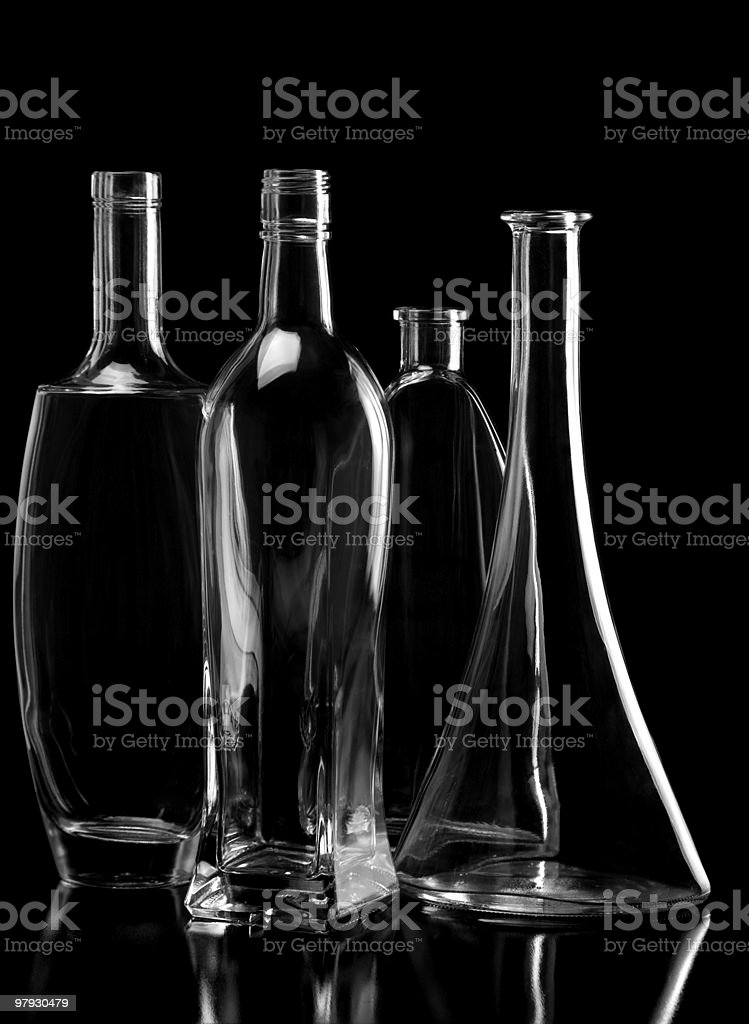 Glass on black royalty-free stock photo