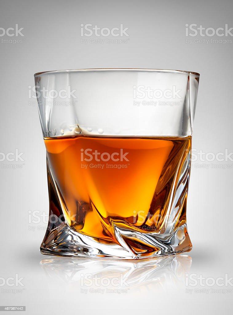 Glass on gray stock photo