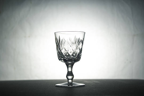 Glass on the table stock photo