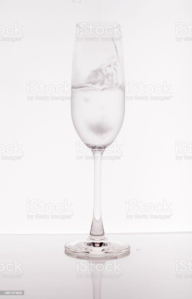Glass on white background stock photo