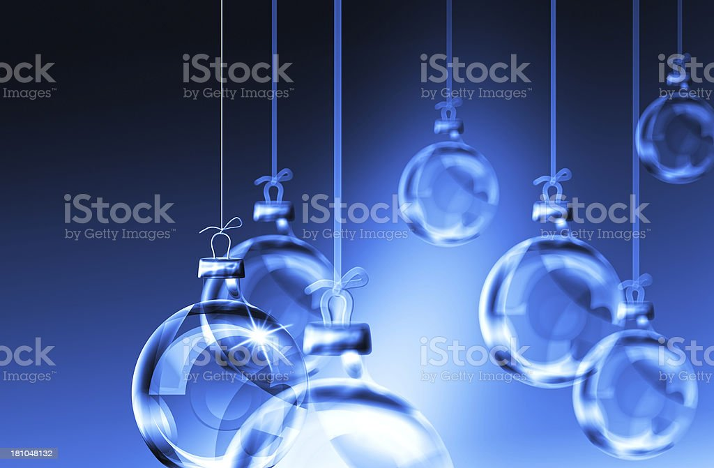 Glass Ornaments royalty-free stock photo