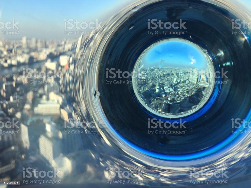 Glass panorama stock photo