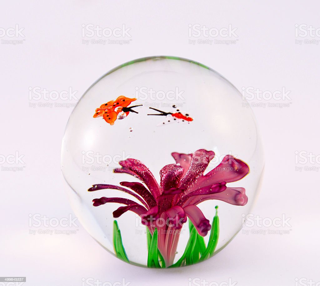 Glass, Paperweight stock photo
