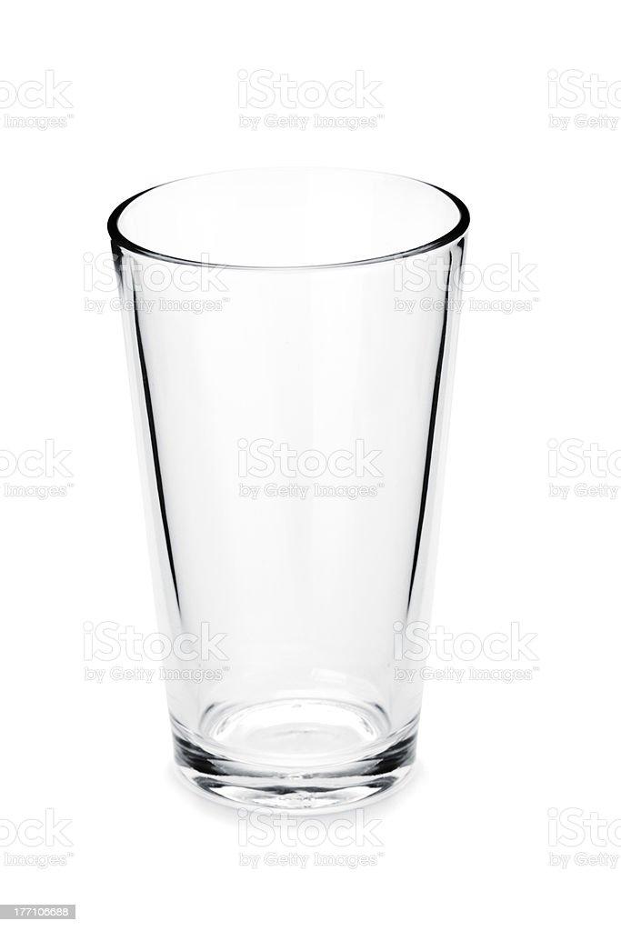 Glass part of boston cocktail shaker stock photo