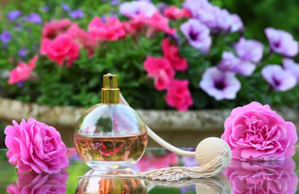 jardim de Verão de pulverizador de perfume de vidro - foto de acervo
