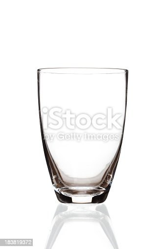 Drinking glass isolated on white