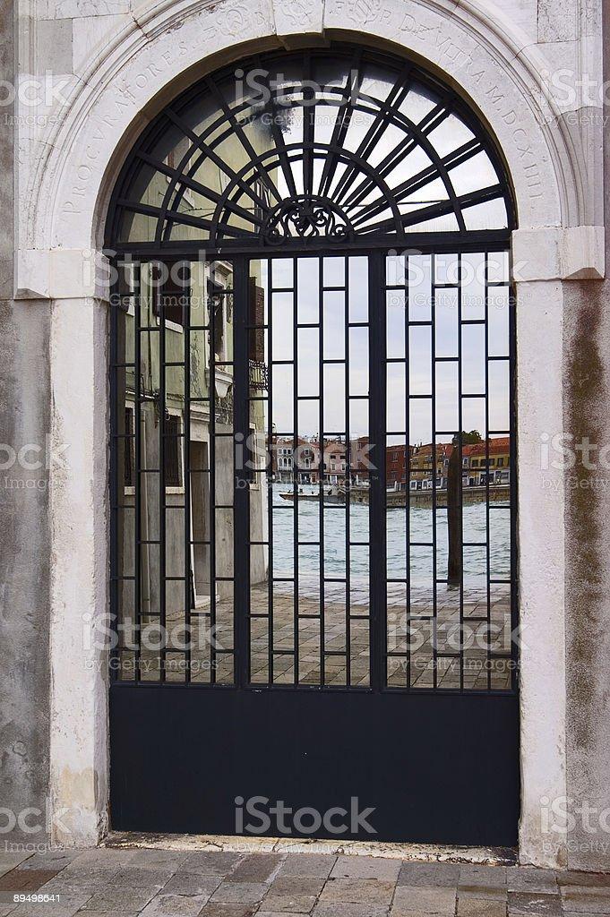 Glass portal, Venice, Italy royalty free stockfoto