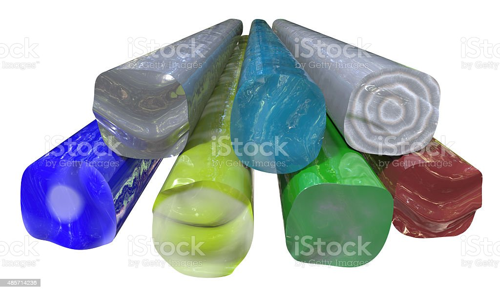 Glass pressing rods stock photo
