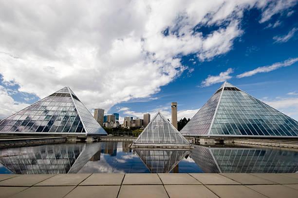 Glass Pyramid (Series four) stock photo