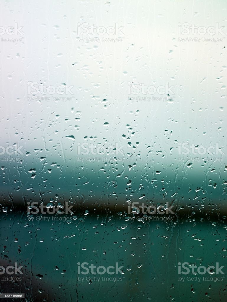 Glass rain drops royalty-free stock photo