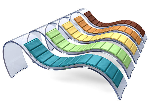 Glass Recliner Chairs in Multiple Colors stock photo