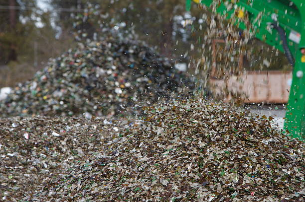 Glass recycling facility  bottle bank stock pictures, royalty-free photos & images