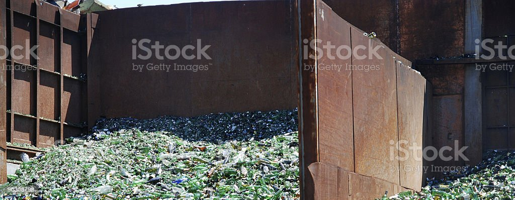 glass recycling royalty-free stock photo