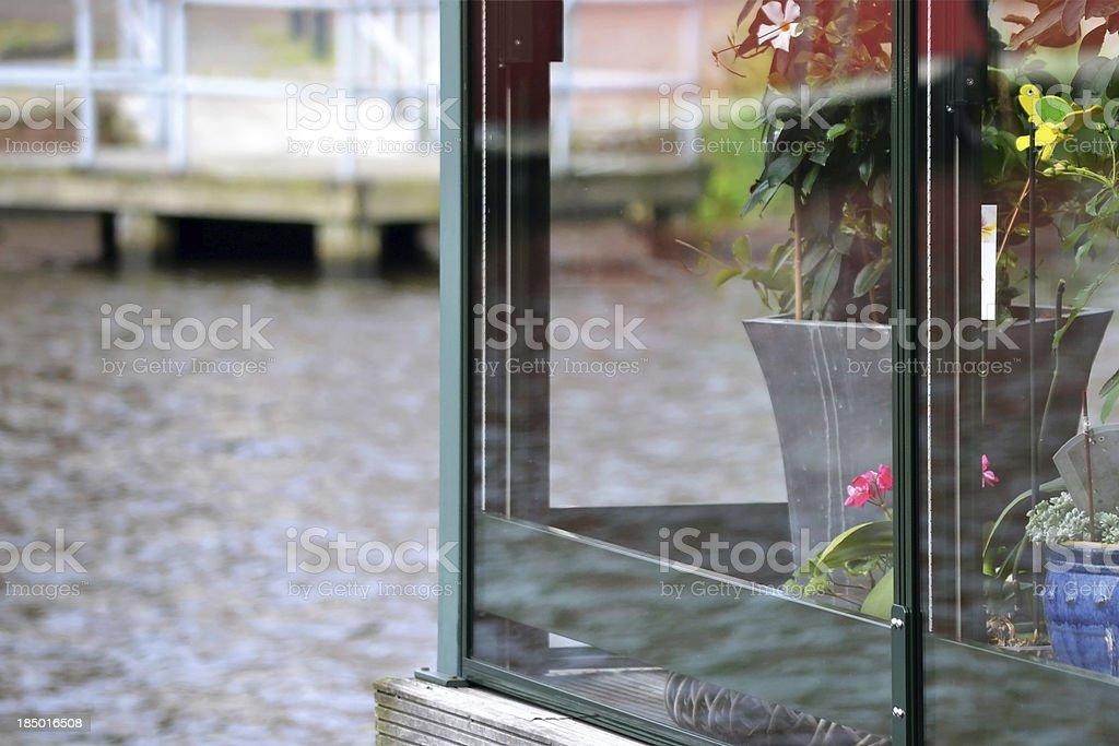 Glass reflection. royalty-free stock photo