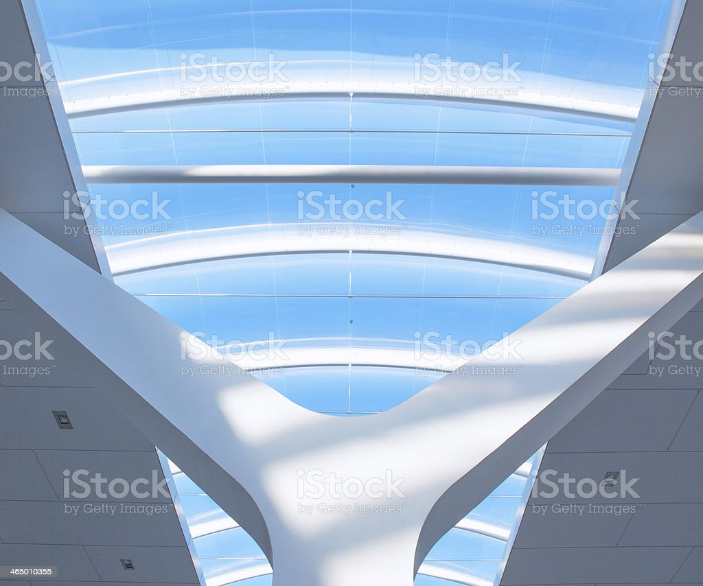 Glass Roof on a Railwaystation stock photo