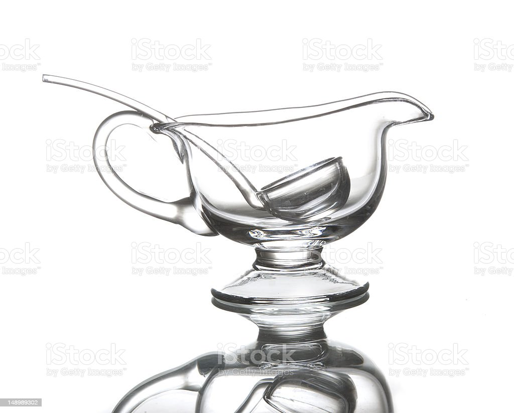 Glass sauce pan stock photo